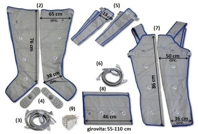 Accessori taglia media pressoterapie I-PRESS 4 e Q1000 PREMIUM